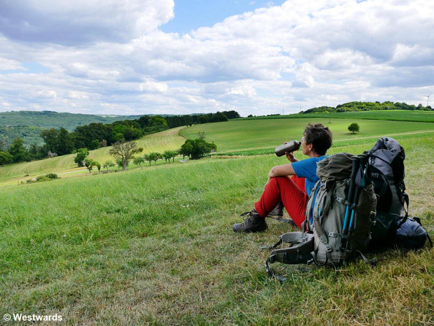 A hiking break on the Mullerthal trail