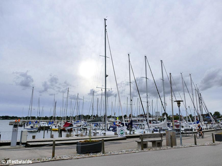 Boats in Rødvig harbour, Denmark