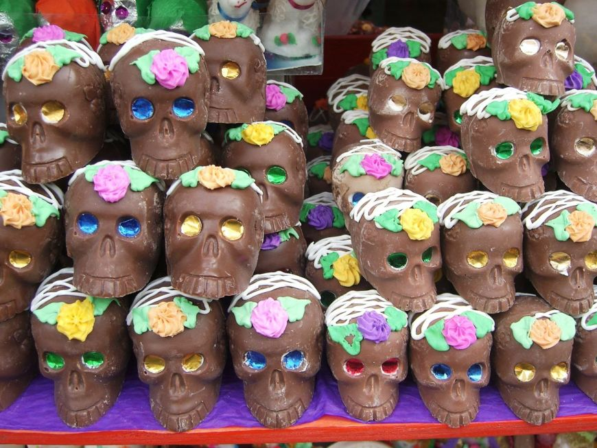 Chocolate sculls in Mexico