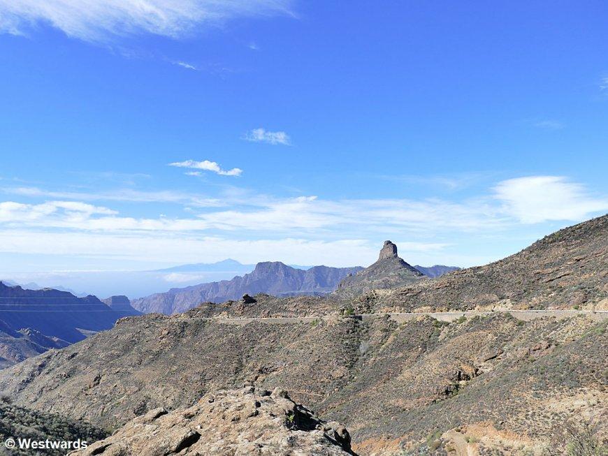 Roque Bentayga on Gran Canaria and Mt Teide on Tenerife