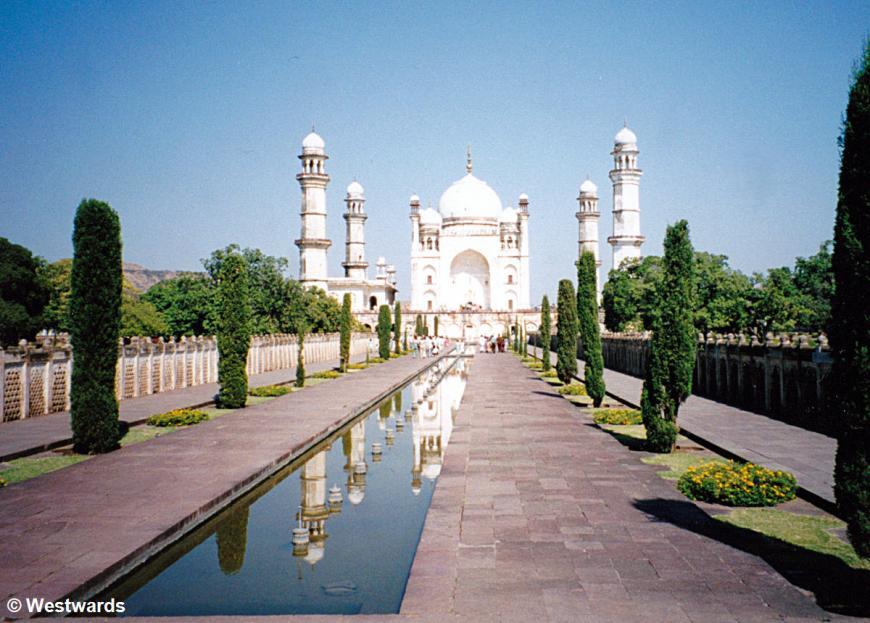 A Persian garden at the Bibi Ka Maqbara in Aurangabad