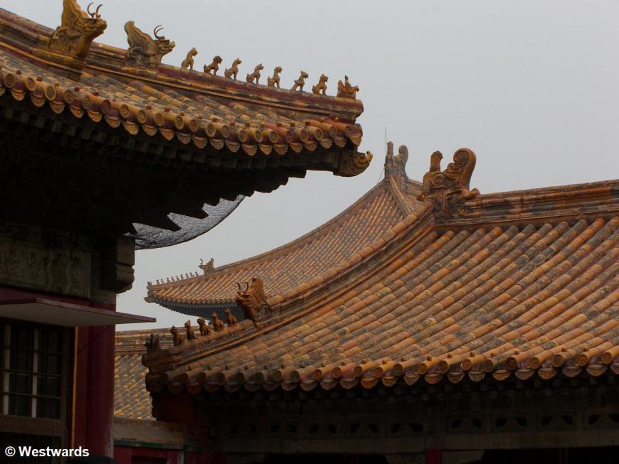 Roofs in the Forbidden City Beijing