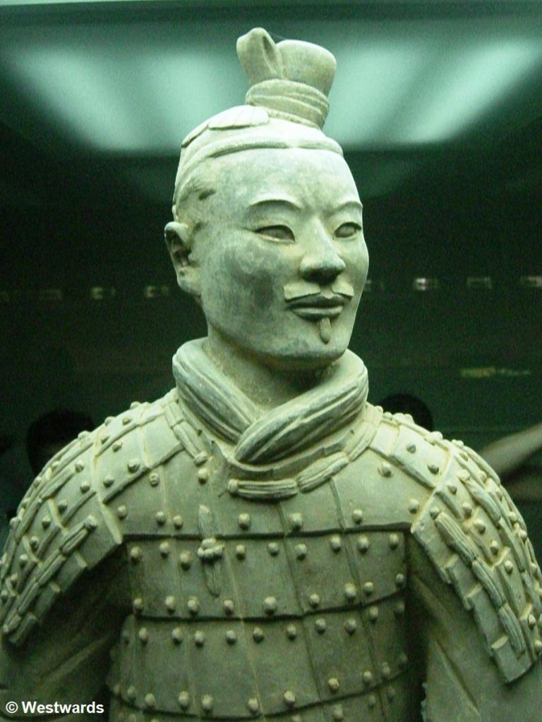 Archer figure of the Terracotta Army in Xian