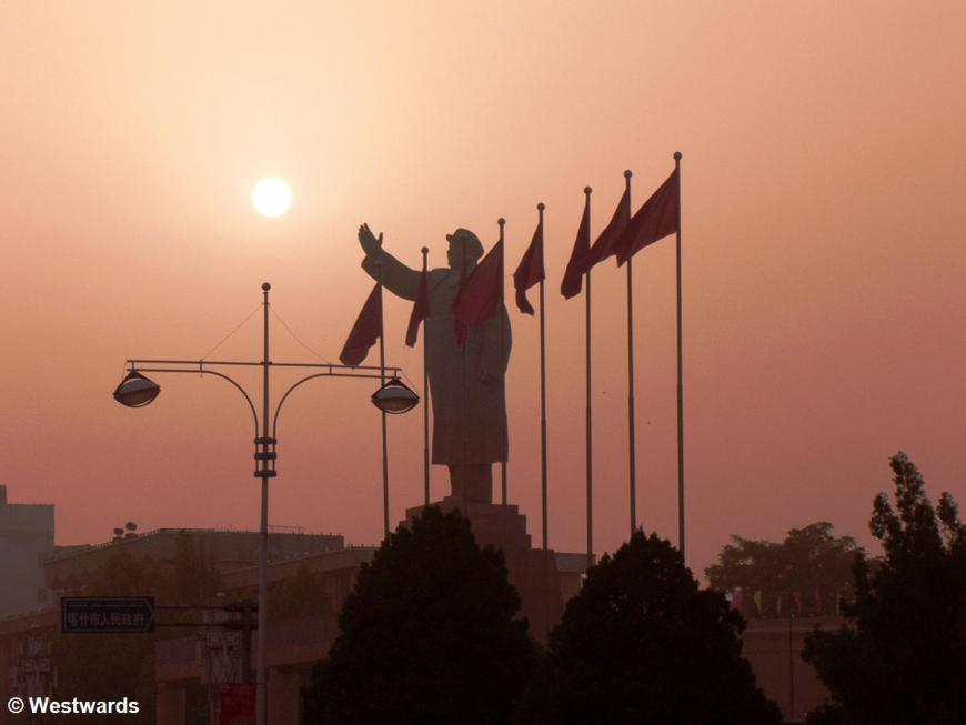 Mao statue Kashgar, China