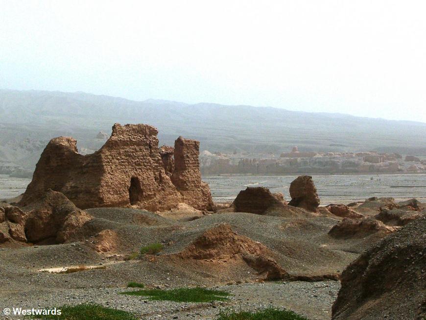 Mud brick ruins of the ancient silk road city Kucha / SubashiWest