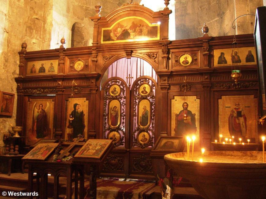 Interior of orthodox church Mtskheta Svetitskhoveli