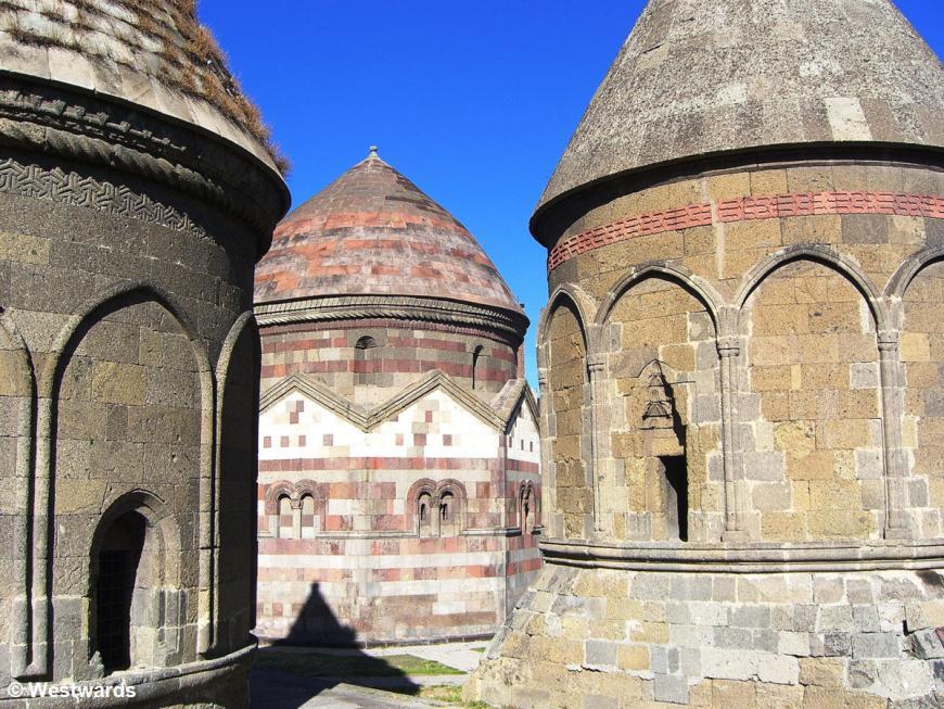 Round mausoleums in Erzurum, Anatolia