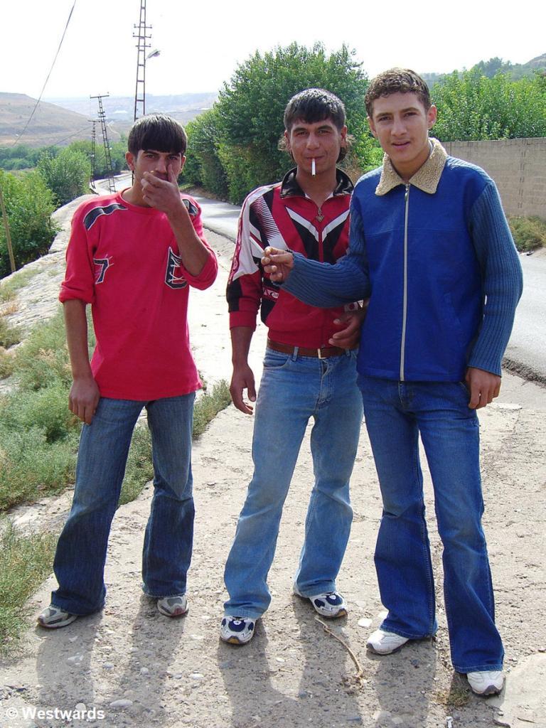 Yong men in Diyarbakir