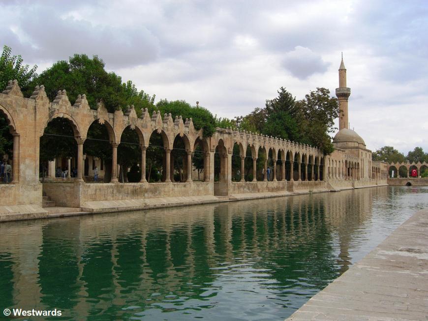 Arches of Rizvaniye Vakfi Camii in Sanliurfa, Anatolia