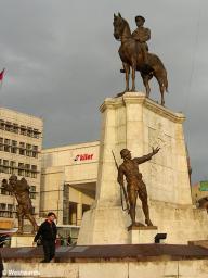 statue of Ataturk, founder of modern Turkey, in Ankara