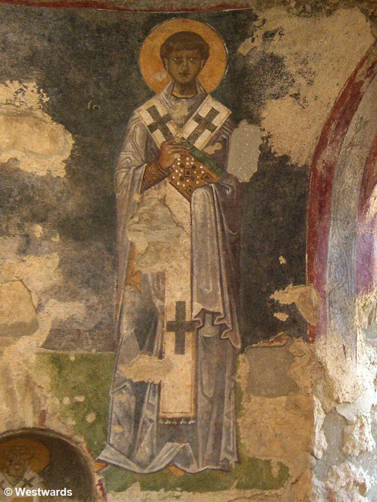 Fresco of Nicholas of Myra in the church of Demre