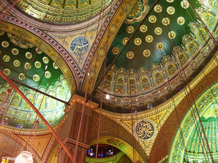 20070319 Cairo Zitadelle Mohammed Ali Moschee interior2