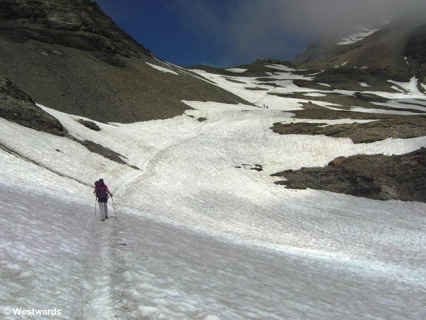20070725 Chamonix Aufstieg Mont Buet Schneefeld I