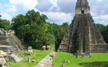 Pyramide shaped temple in Tikal
