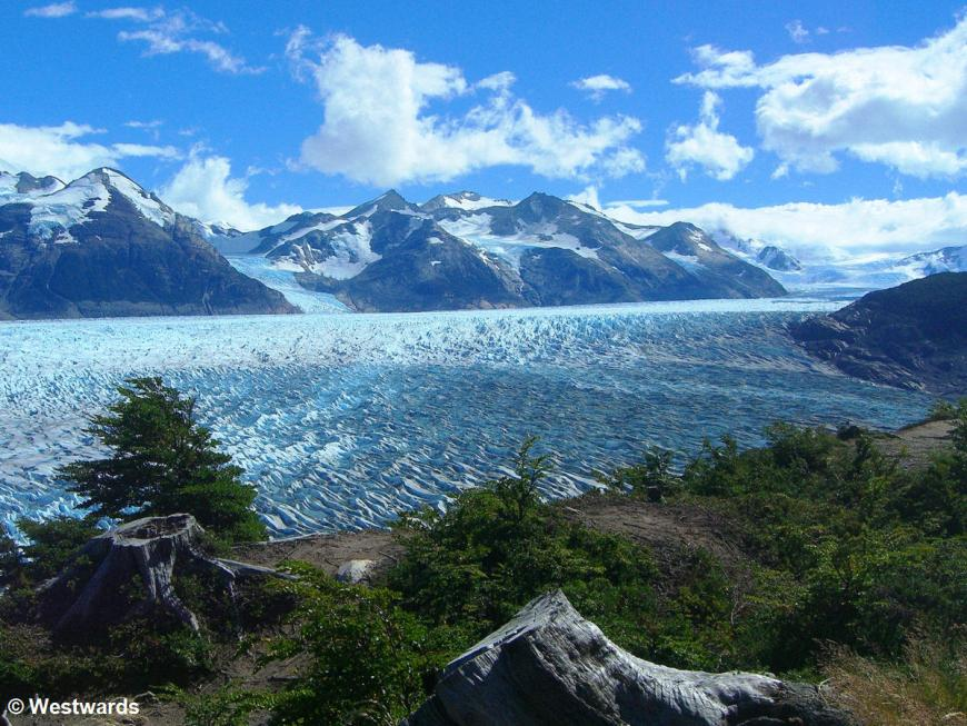 Glaciar Grey seen from Torres del Paine circuit