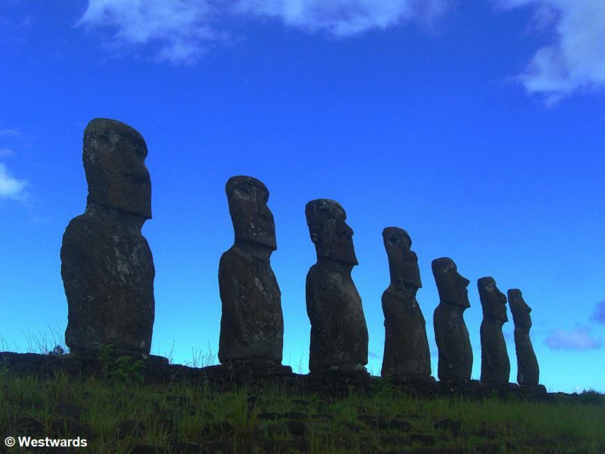 Ahu Akivi (Moai figures) in Rapa Nui