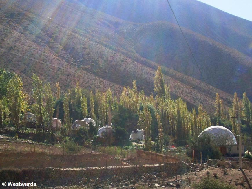 Astro Lodge dome tents in Elqui Valley