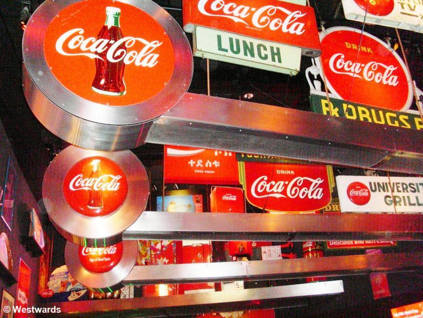 Coca Cola signs, Atlanta World of Coca Cola