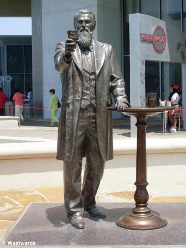 John S. Pemberton statue at Coca Cola World in Atlanta