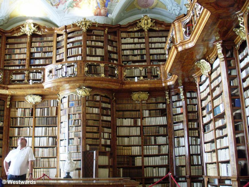 Library in Stift St Florian, a monastery in Austria
