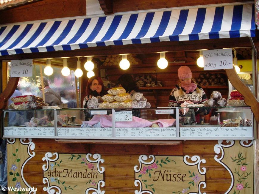 almond stall at Munich Oktoberfest