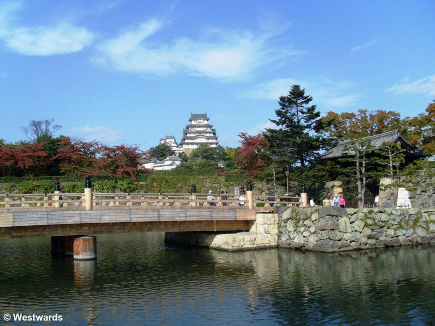 Himeji castle from the first entrance gate