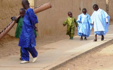 Children dressed up for Tabaski in Podor in Northern Senegal