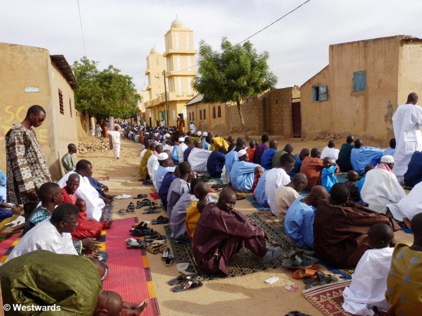 Tabaski prayer in Podor in Northern Senegal