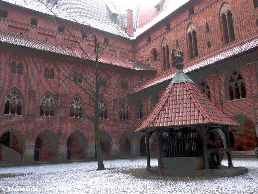 courtyard of Malbork High Castle, Poland