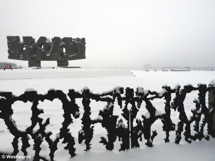 Memorial in Majdanek concentration camp