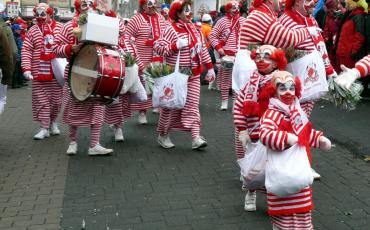 Procession of Clowns during Cologne Carnival