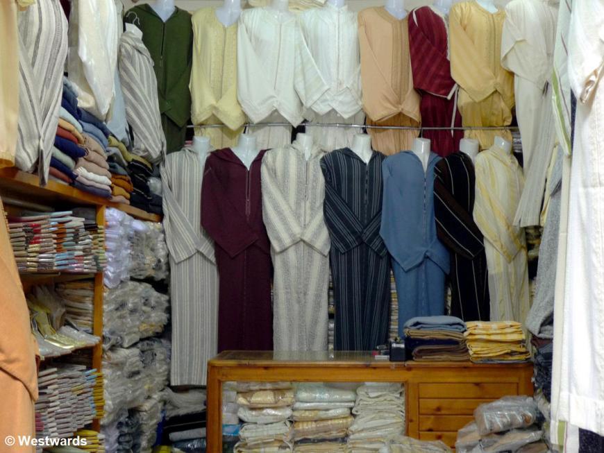 garments in Tetouan Medina, Morocco