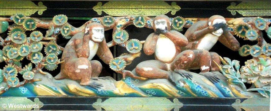 Three wise monkeys in Nikko (we often see them on our tourguiding travels in Japan!)