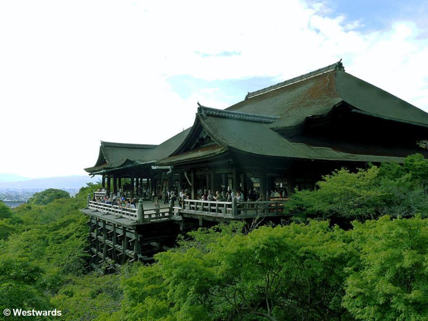 Kiyomizu Temple with terrace overlooking Kyoto