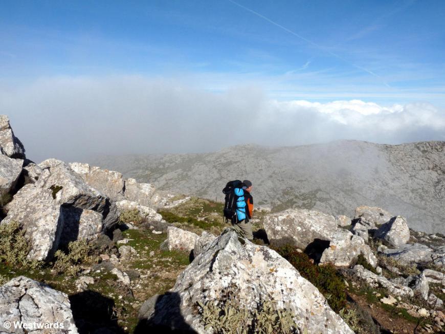 Hiking on the GR221 Mallorca: Natascha in the Serra de Tramuntana