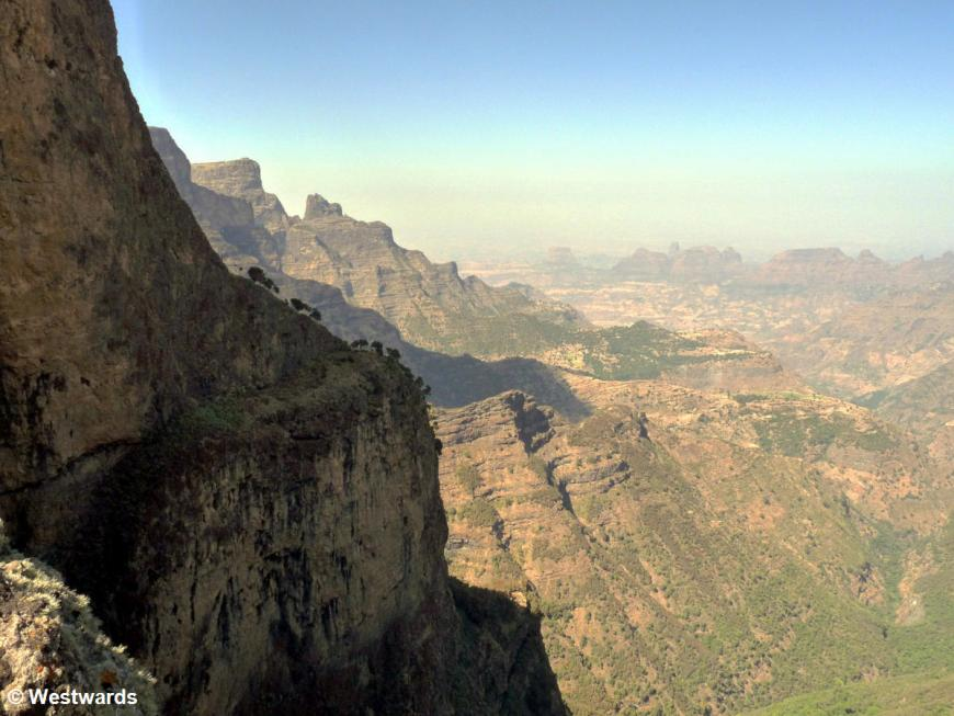 view from trekking in the Simien Mountains