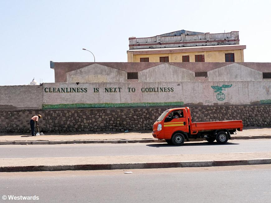 Cleanliness is next to godliness, Graffiti in Djibouti City