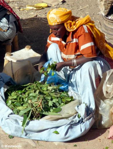 Harar market qat seller