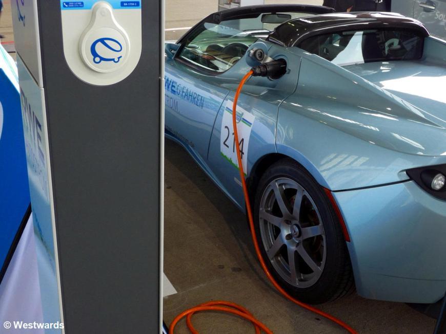 electric car at the Tempelhof Challenge Bibendum event