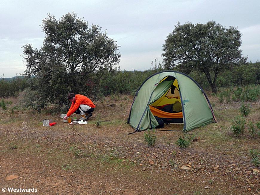 wild camping on the Via Algarviana