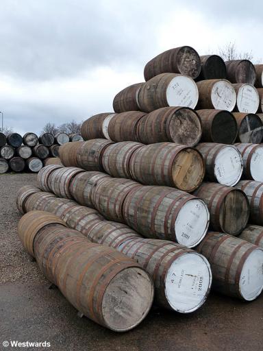 20130426 Fort William Ben Nevis Whisky Distillery casks P1430207