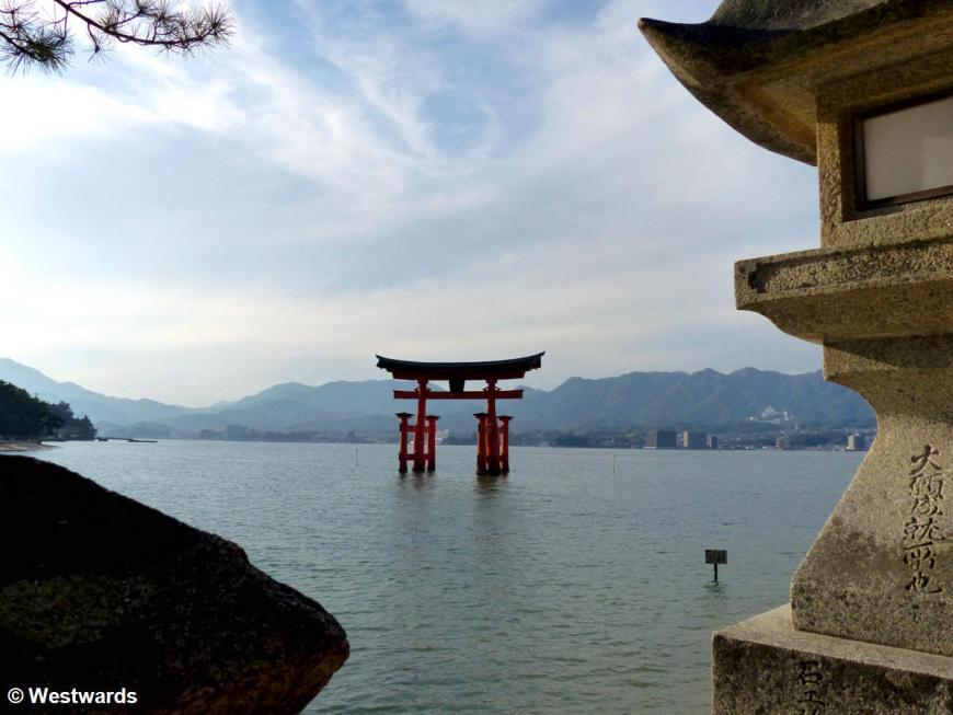 Miyajima Torii in the water