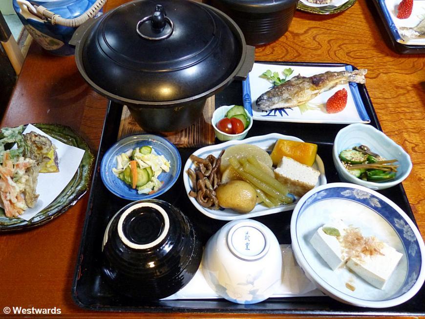 20140331 Shirakawago Furusato Minshuku dinner P1050605