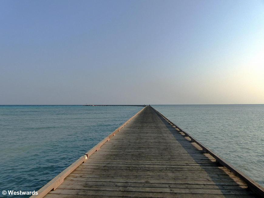 Footbridge into the sea