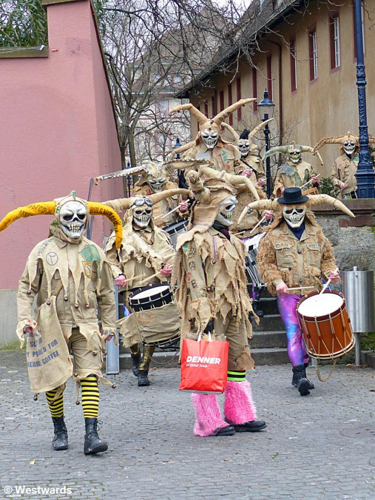 Masked participants of Basel Fasnacht