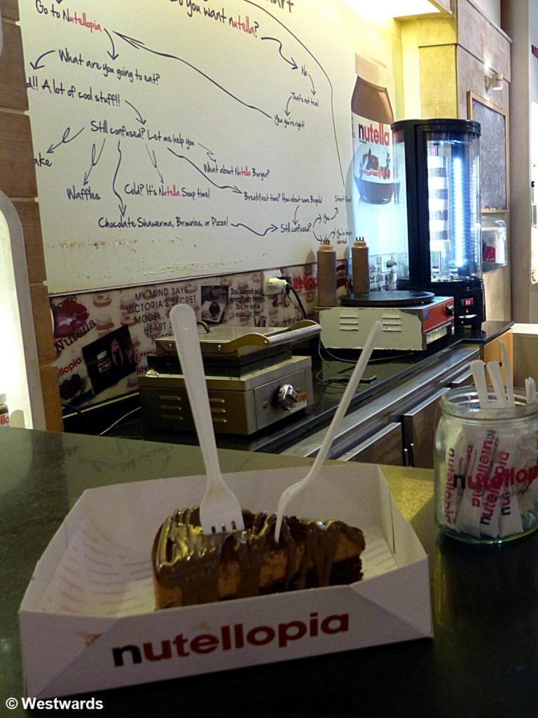 sweet food in Alexandria's Nutellopia
