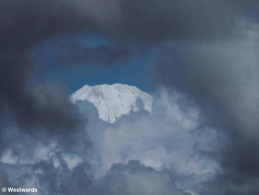 Fuji-san in clouds