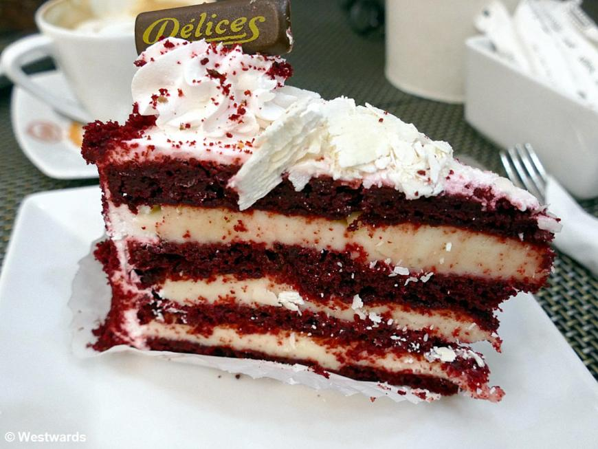 Red Velvet Cake at Delices cafe