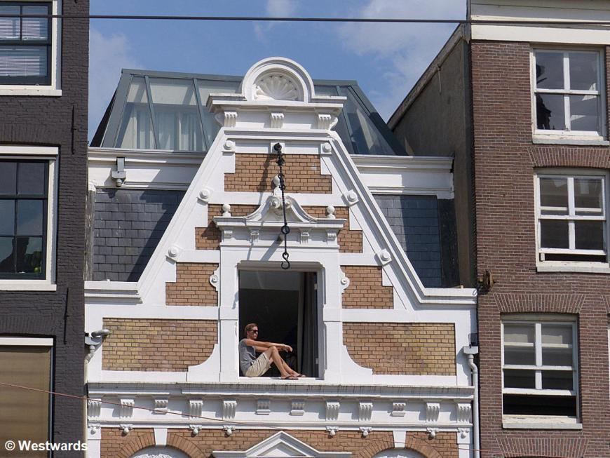 Amsterdam town house window