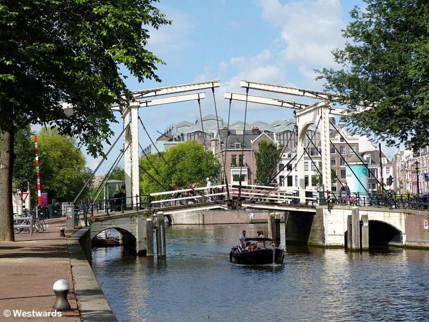 Draw bridge on a town canal, a cliché Amsterdam photo